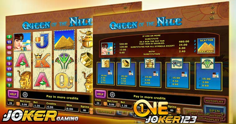 Review Game Slot Online Queen Of The Nile Di Agen Joker123