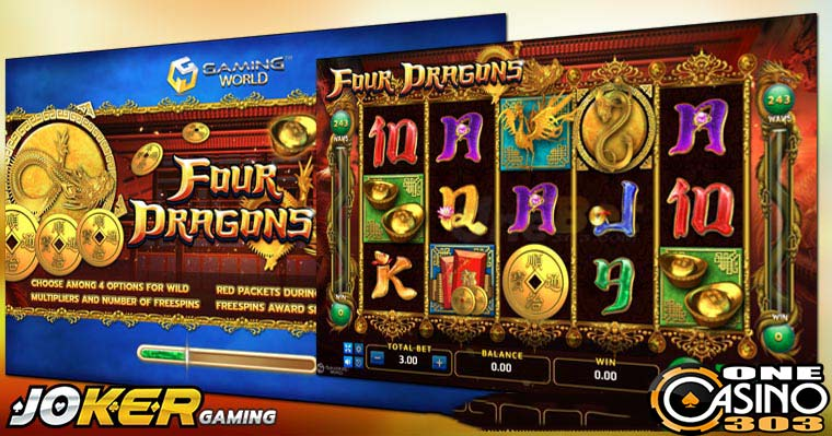 Review Game Slot Online Four Dragons  Agen Joker Gaming